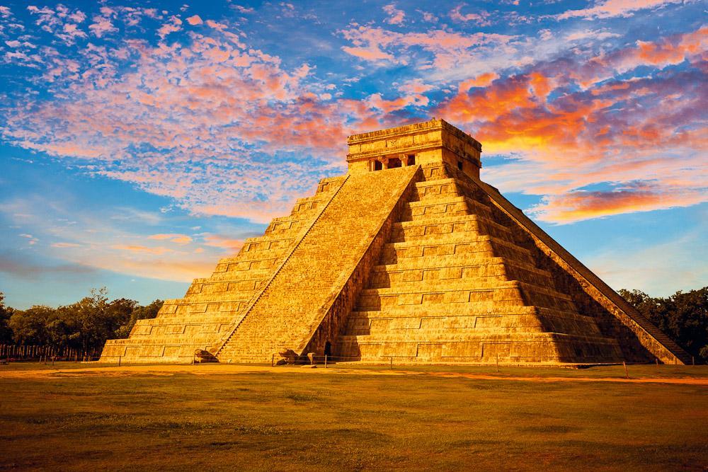 Indiánské město Chichen Itzá Yucatán