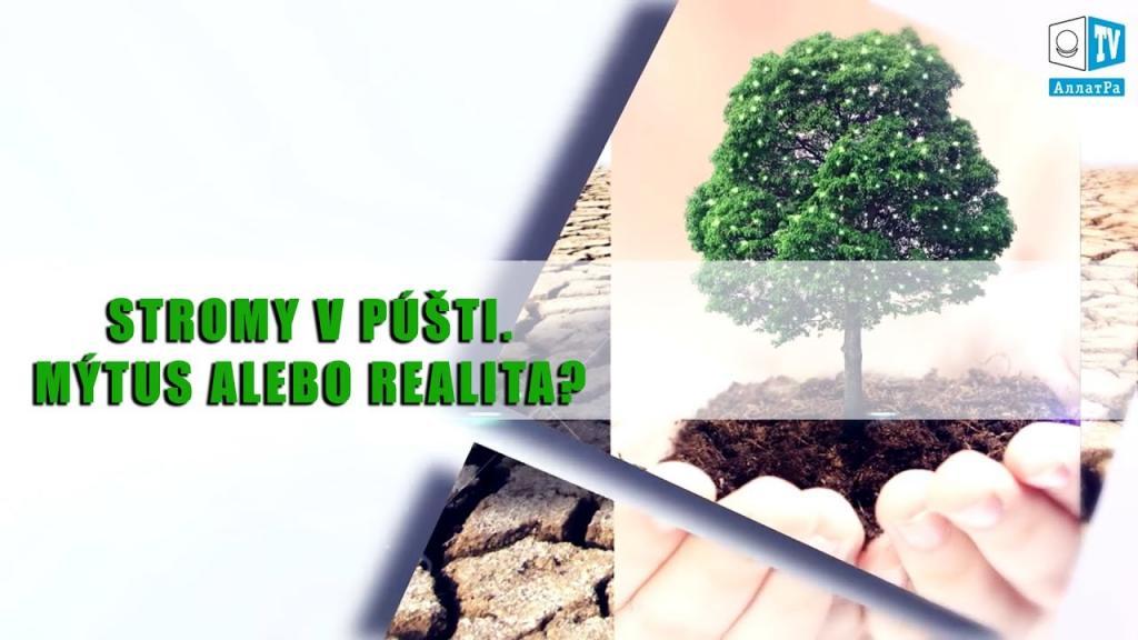 Stromy v púšti. Mýtus alebo realita? Vedecký vývoj, nové technológie budúcnosti.