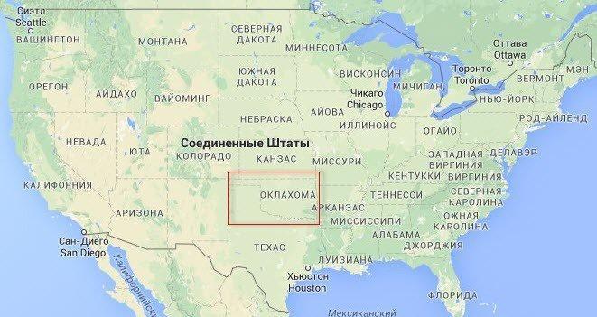 Zemětřesení v Oklahomě - důsledek formování kontinentálního zlomu Severoamerické litosférické desky