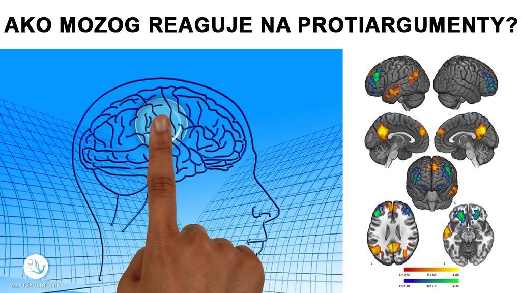 Ako mozog reaguje na protiargumenty?